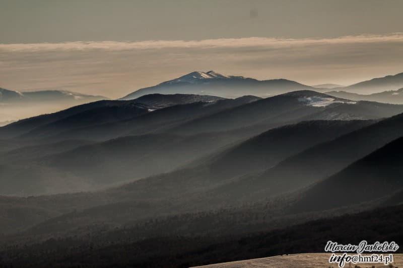 Bieszczady zimą - panorama 360