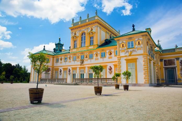 Pałac w Wilanowie elewacja pałacu w Wilanowie