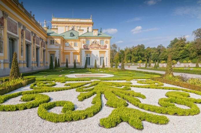 Pałac w Wilanowie ogrody pałacu w Wilanowie