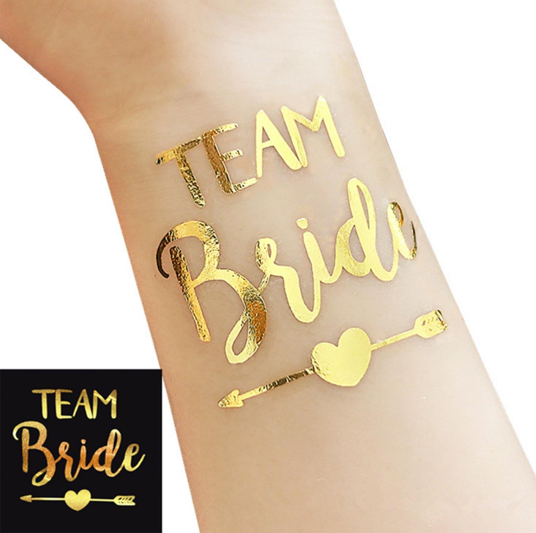 Team Bride Tattoo Für Polterabend Und Hochzeiten