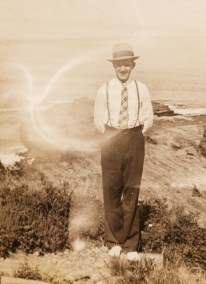 Ed Janis at Beach 1930