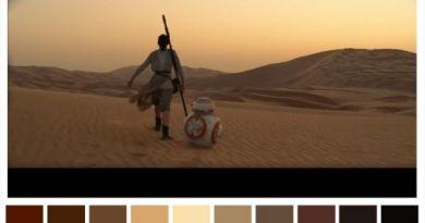 paleta de cores star wars