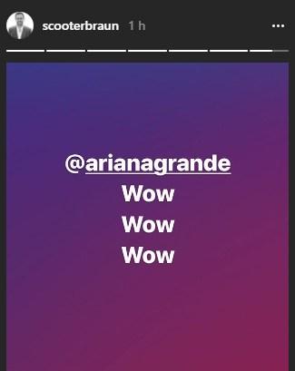 Empresário de Ariana via Instastories