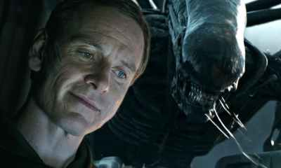 Michael Fassbender as David and the Protomorph in Alien Covenant