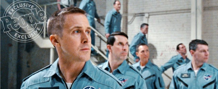 Ryan Gosling em cena de First Man.