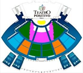 Mapa Teatro Positivo - Curitiba