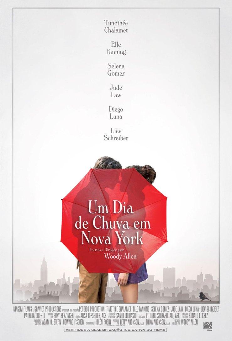 Um dia de Chuva em Nova York Poster Oficial