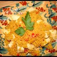 Poulet sauté et Couscous aux épices du monde