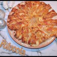 Tarte soleil jambon cru, mozzarella, gruyère