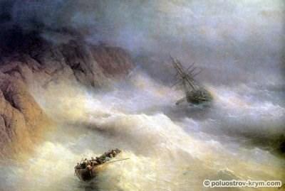 Иван Айвазовский. Буря у мыса Айя. 1875