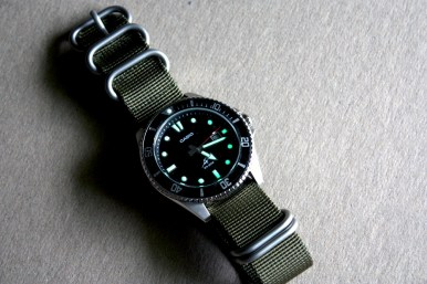 Of course, the plastic Casio strap is crap (well, not crap, just ugly), they had to save somewhere! But a nice Nato/Zulu will do the trick.