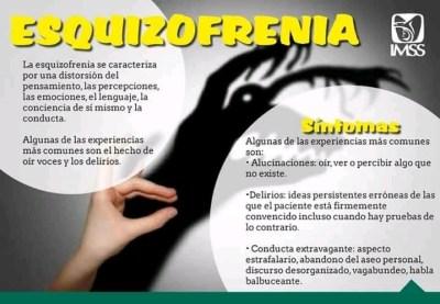 Esquizofrenia, características principales.