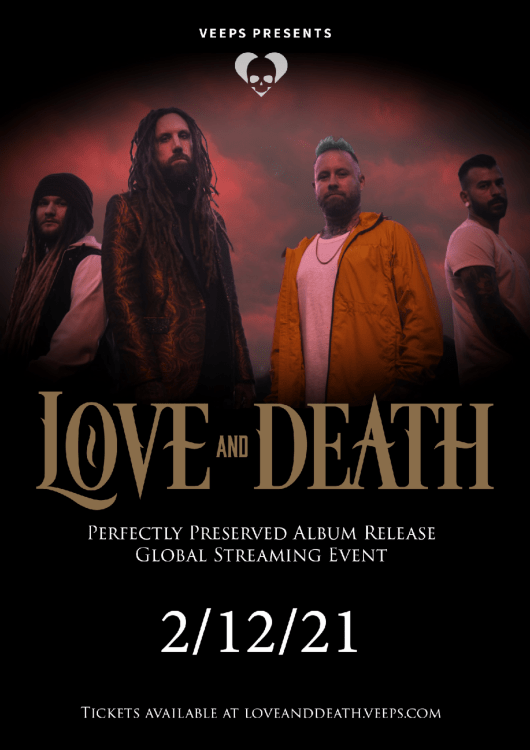 Póster Love and Death Perfectly Preserved streaming concert