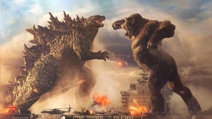 Godzilla vs Kong pelea portaviones