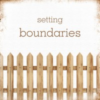 Establishing Boundaries