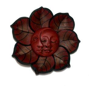 Helen Hughes-polymer clay sun moon mask