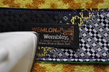 fusing tie tag onto the strap