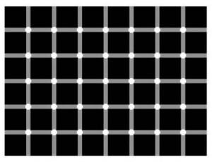 optical illusion white dots