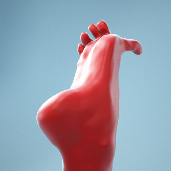 Big Toe Pointing Realistic Foot
