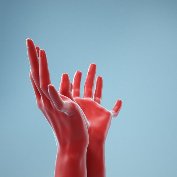 Hands Thumb Touching Realistic Hands