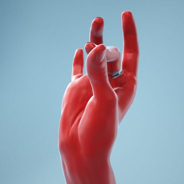 Pinch Gesture Realistic Hand