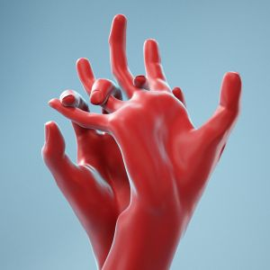 Pulling Back Realistic Hands
