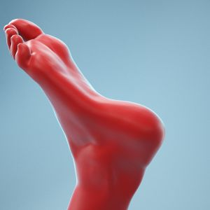 Twisted Pose Realistic Foot