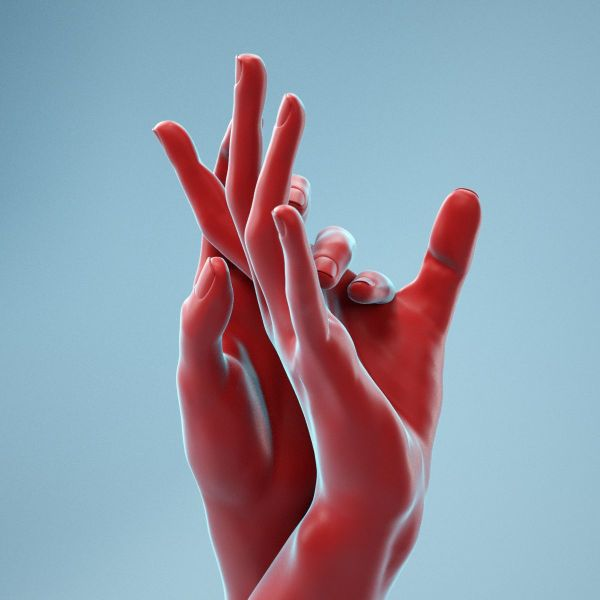 Washing Realistic Hands