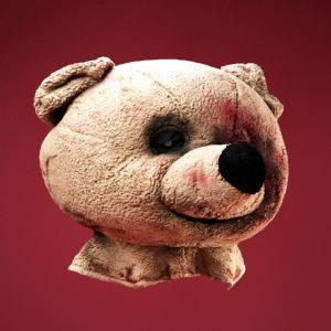 Beat Up Horror Bear Mask