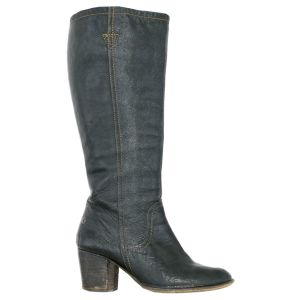 Vintage Boot Black Leather Tall