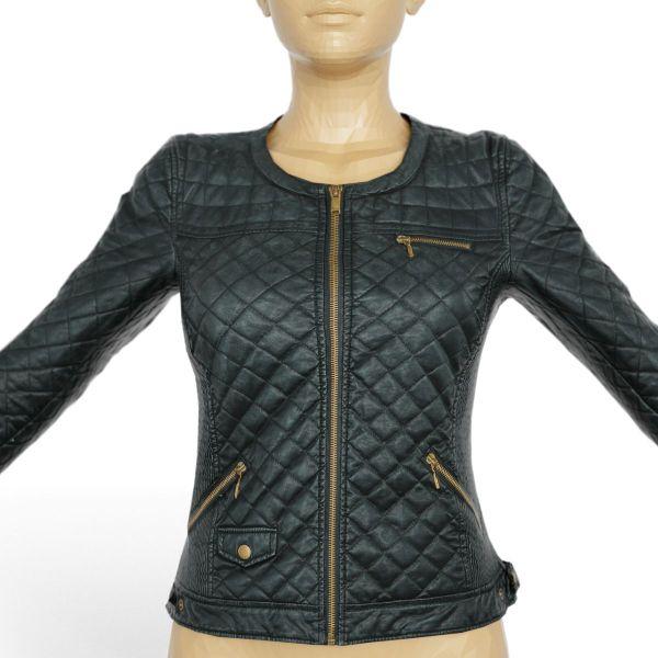 Vintage Jacket Black Leather Padding
