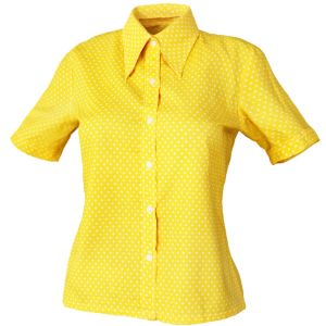 Vintage Shirt Yellow Polka