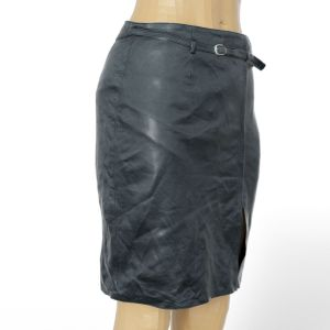 Vintage Skirt Black Leather