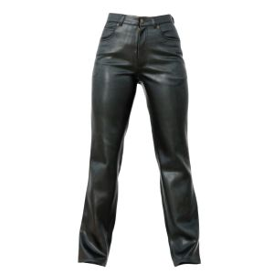 Vintage Trousers Black Leather