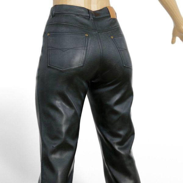 Vintage Trousers Black Leather