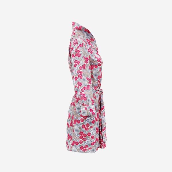 Flower Dress Collar up