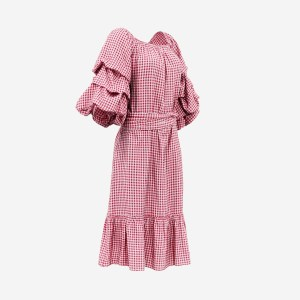 Red Square Salsa Dress