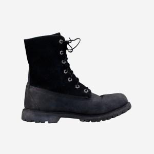 Black Velvet Leather Boots