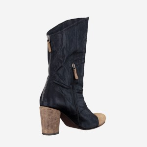 Black Zipper Tip Boot