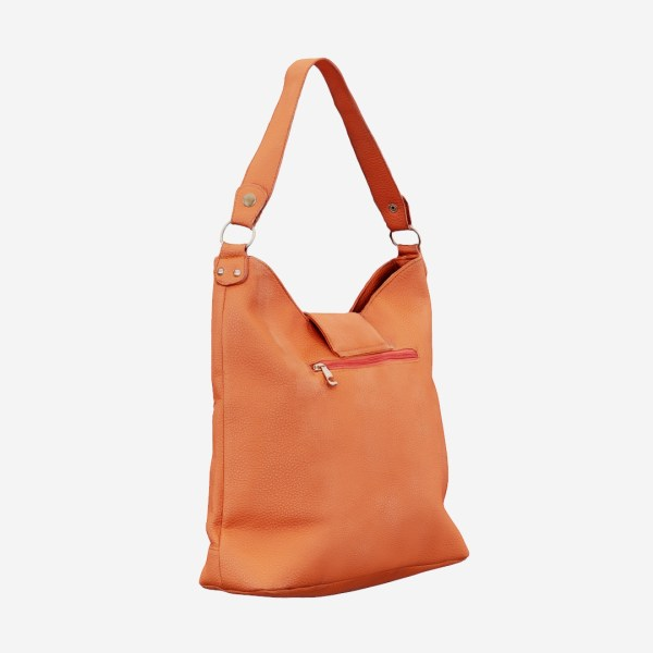 Orange Leather Handbag