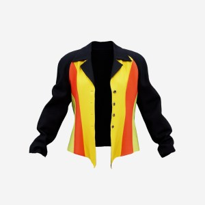 Yellow Red Green Rasta Stylish Jacket