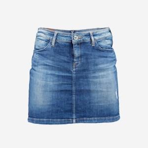 Jeans Mini Skirt Worn