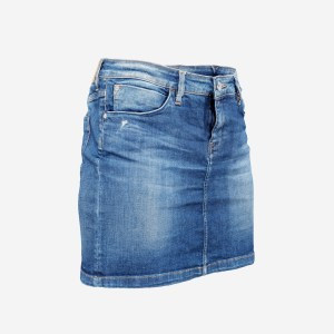 Jeans Mini Skirt Worn