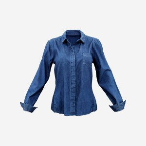 Blue Jeans Shirt Chest Pocket