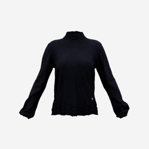 Neck Button Dark Top