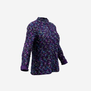 Purple Decorated Pull Long Sleeves