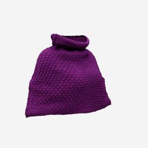 Purple Knit Wool Cape