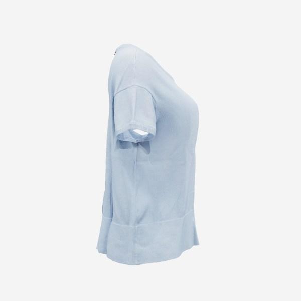 Zipper Back Pull Light Blue