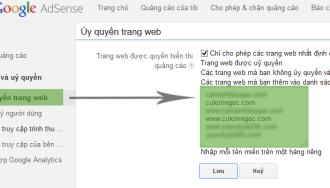 Hướng dẫn ủy quyền hiển thị quảng cáo Google Adsense cho website nào đó