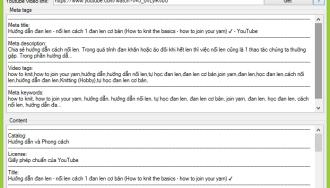 Ứng dụng lấy toàn bộ thông tin Video Youtube, tags, meta, description….